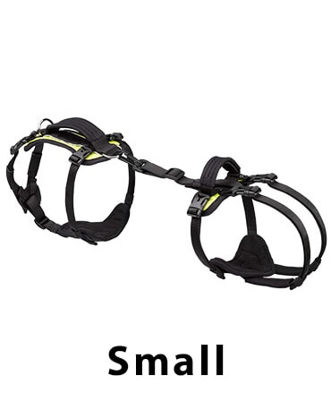small help em up dog harness green