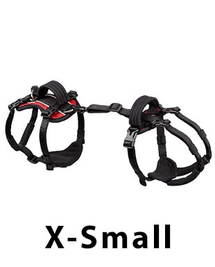 x-small help em up dog harness red